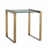 Diaz Side Table | Brass