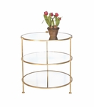 Diego Side Table   Gold