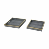 "Dorinda ""Shagreen"" Trays Set"