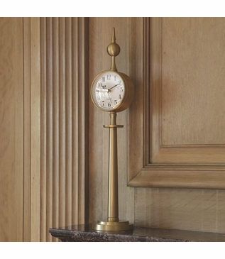 Downing Table Clock | Brass