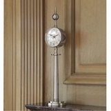 Downing Table Clock | Nickel