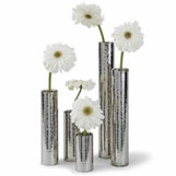Duro Hammered Bud Vase Set | Nickel