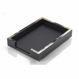 Dustin Lacquer Letter Tray | Black