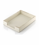Dustin Lacquer Letter Tray   Ivory