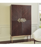Ecuador Wood & Brass Bar Cabinet