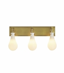 Edison 3-Light Vanity Fixture | Antique Brass