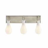 Edison 3-Light Vanity Fixture | Antique Silver