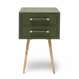 Elkie Narrow Side Table | Green