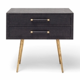 Elkie Wide Side Table | Dark Brown