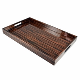 Ellie Rectangular Lacquered Tray | Macassar
