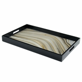 "Ellie Rectangular Lacquered Trays | ""Agate"" Swirl"