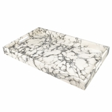 "Ellie Rectangular Lacquered Trays | ""Marble"" Swirl"