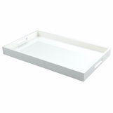 Ellie Rectangular Lacquered Trays | Solid White