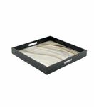 "Ellie Square Lacquered Tray | ""Agate"" Swirl"