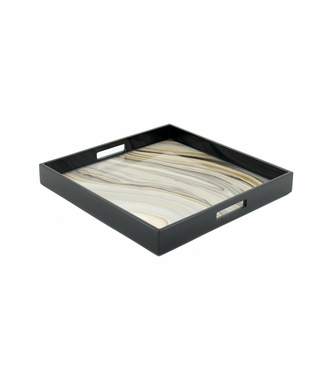 """Ellie Square Lacquered Tray 