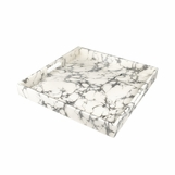 "Ellie Square Lacquered Tray | ""Marble"" Swirl"