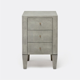 Emmett Narrow Side Table | Light Grey
