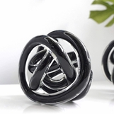 Entwined Glass Orb   Black