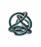 Entwined Glass Orb | Teal