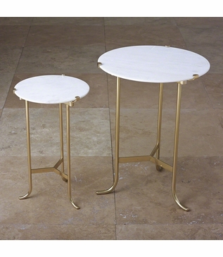 Essie Side Table | Brass & Marble