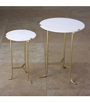 Essie Side Tables | Brass & Marble