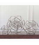 Euclid Geometric Sculptures | Nickel