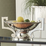Evonna Pedestal Bowl | Nickel