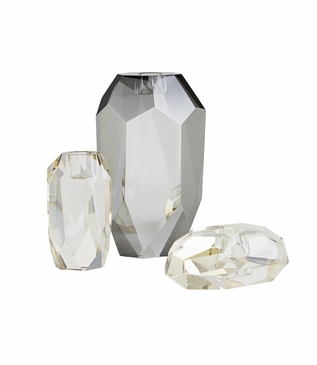 Facetta Crystal Candleholders Set