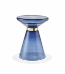 Ferris Glass Side Table | Blue