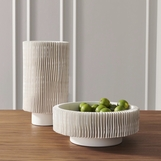 Finnley White Ceramic Vase