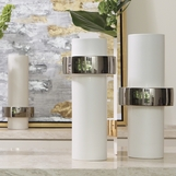 Fiona Ring Vases   Silver