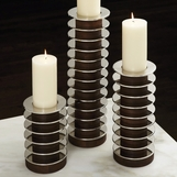 Fire and Ice Candleholders