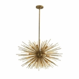 Fireball Chandelier | Antique Brass