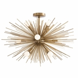 Fireball Fixed Chandelier | Antique Brass