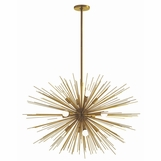 Fireball Grand Chandelier | Antique Brass