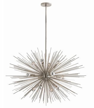 Fireball Grand Chandelier | Polished Nickel