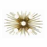 Fireball Sconce | Antique Brass
