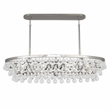 Flair Oval Chandelier | Polished Nickel