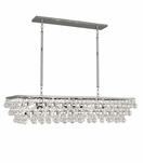 Flair Rectangular Chandelier | Polished Nickel