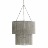Flapper Vintage Nickel Chandelier