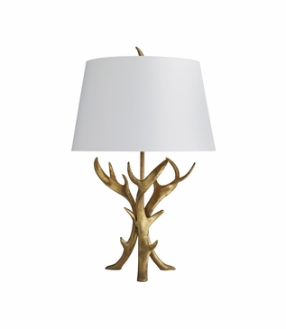 Forester Iron Antler Lamp