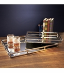Foxworth Mirrored Trays Set | Rectangular