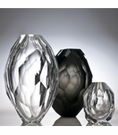 Fritz Faceted Glass Vases | Neutral