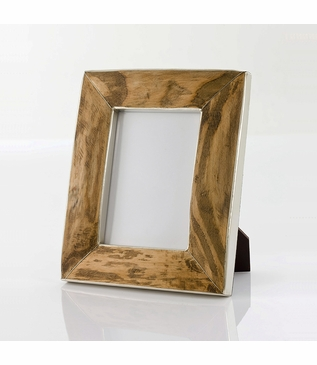 Frontier Silver & Wood Frames   Rectangle