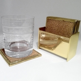 Gabriel Coasters Set | Brass