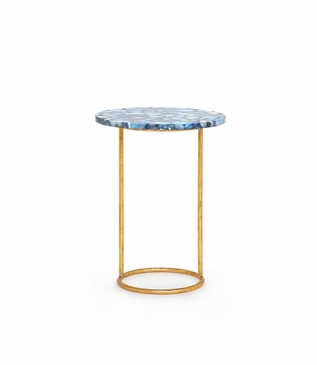Gadot Side Table | Blue Agate