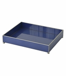 Gaspar Large Glass Tray | Blue
