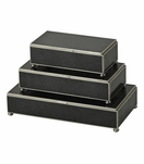 Gaspar Rectangular Box Trio | Black