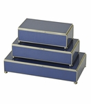 Gaspar Rectangular Box Trio | Blue