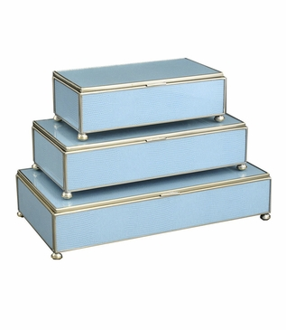 Gaspar Rectangular Box Trio | Light Blue